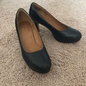 Clarks Black Leather Heels